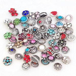 Snap jewelry wholesale bulk mix metal rhinestone diy rhinestone buttons Snap Jewelry Brand New Snap Buttons