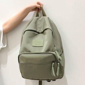 Cesha мода пустой твердый цвет рюкзак женский красивый стиль девочек школа рюкзак высококачественный нейлон день для женщин