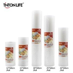 Scellant alimentaire à vide Tinton Life avec sac de scellant à vide à 5 rouleaux (12x500cm, 15x500cm, 20x500cm, 25x500cm, 28x500cm)