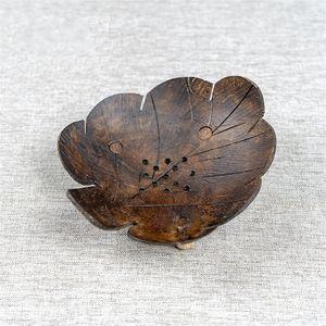 Креативное кокосовое ракушка мыло полка бабочка в форме кокосового мыла мультфильм мыльная коробка Юго-Восточная азиатская деревянная кокосовая оболочка мыла блюдо 265 G2