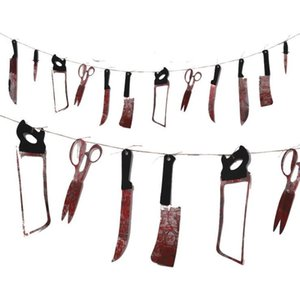 DHL Bloody Garland Banner - Halloween Banner horror Outdoors Hanging decor Scary Zombie Vampire Party Decorations Supplies