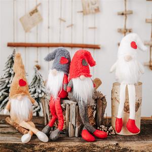 Natale nuove decorazioni bambole della peluche con i piedi senza volto bambola ornamenti foresta creativo commercio estero anziani caldo sale06