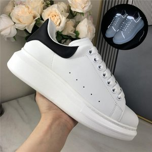 New Season Top Quality Casual Shoes Trendy Womens Mens genuine Leather Suede Lace Up Black Velet Comfort Pretty Platform Sole Sneakers