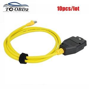 10pcs / lot ESYS 3.23.4 V50.3 Dados 16PIN cabo Para ENET Ethernet para OBD OBDII RJ45 interface ESYS ICOM Codificação Cable