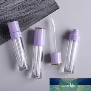 1 pc 6ml Empty Lip gloss tube Clear lip glaze bottle Pink purple cap,DIY Refillable Makeup Cosmetics packing container