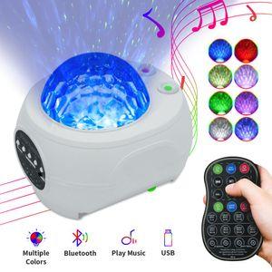 Başucu Galaxy Projektör Gece Lambası Evren Yıldız Gökyüzü Projektör Lambası Okyanus Dalga Bluetooth Müzik Hoparlör Çocuklar Için Bebek Hediye