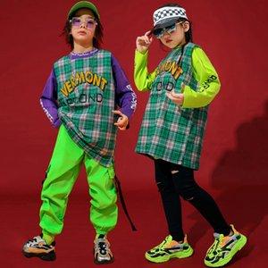 Child Street Dance Wear Set Bambini Ragazzi Abbigliamento Hip Hop Girls Hiphop Performance Drums Costumi Tide Abito Autunno Vestiti Bi154