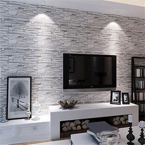 beibehang Modern 3D Brick Wallpaper Roll Stereo Mural Wallpapers Home Decoration Project Wall Decals Waterproof PVC Papier P