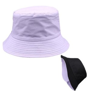 Women's Cotton Sunbonnet female Summer Double-faced Sun Block Cap Girls Fisherman Hat UV Prevention Bucket Hat Sun-shade Chapeau