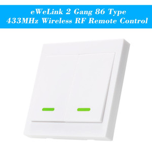 eWeLink Push Button Wall Light Switch Remote Controller 1 2 3 Gang 86 Type Panel Switch Smart Home 433MHz Wireless RF Control