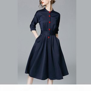 New casual dresses for womens vestido office ladies shirt dress party long plus size women clothing waist african dresses woman clothes