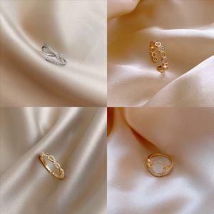 EQ66E Anillo individual real Poético Diamante Plata Pink Flower Cut Japanese y Corea Sterling Daisy Cherry Twist Finger Finger Glan