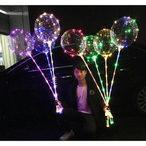 Led Bobo Balloon With 31.5inch Stick String Balloon Light Christmas Halloween Wedding Birthday Party Decoration Bobo jllWnC mx_home