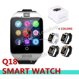Q18 Bluetooth Smart Watch Support SIM Card NFC Connection Health Smart watches For Android Smart phone With Rectangle Package