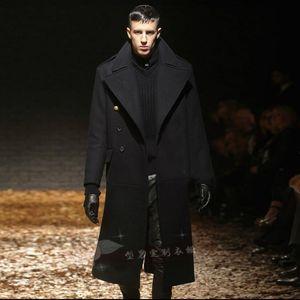 2020 Mantel Herrenwolle Single Große Größe Breasted Junge lange Knie Wolljacke Herbst und Winter S-5XL VJSK