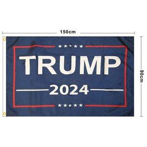NOUVEAU Trump 2024 Flag U.S. Drapeau de la campagne présidentielle 90 * 150cm 3 * 5ft bannière drapeau pour la maison de jardinage de la maison 13 style DHL SHIP EEF4965