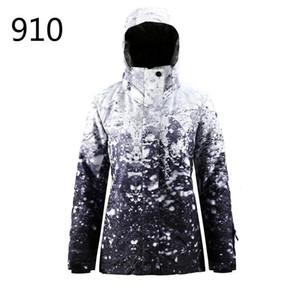 New Ski Jacket Women's Single-board Double-board Climbing Waterproof Windproof Breathable Thick Warm Ski Coat