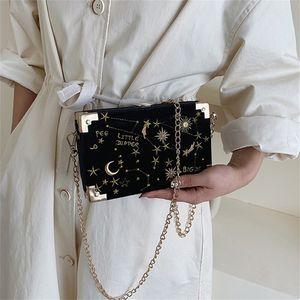 fashion Starry sky box women shoulder bags designer chains lady crossbody messenger bag luxury female evening clutch small purse