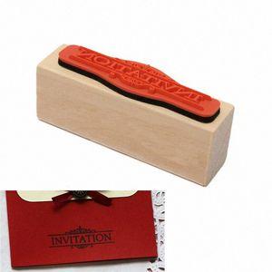 Wholesale Durable Modern Design DIY INVITATION Rubber Wooden Stamp Scrapbooking Craft Wedding Party Card Making VfCj#