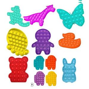 DHL Free Among US Reversible Flip Push PoP Bubble Sensory Fidget Toy Autism Special Needs Stress Reliever, Squeeze Sensory Toy Great