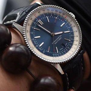 Новый роскошный Человек B01 breitling часы 43мм кожа стальной ленты кварц механическое движение полный Navitimer работая часы дизайнер наручные часы I6Ra #