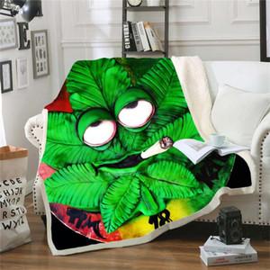 Newest trippy Tie-dye Leaf Throw Bed Blanket Sofa Chair Rest Bed Linen Home Indoor Blanket Adult Children 003