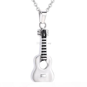 ijd7133 Guitar Memorial Jewelry Necklace Urn For Ashes Hold Memorial Ash Keepsake Pendant Necklace For Pet Human Ashes