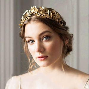Baroque Wedding Hair Jewelry Fashion Wedding Bridal Headpiece Gold Silver Color Leaves Headband Beautiful Bridal Hair Accessories