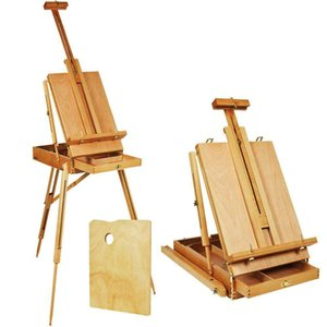 Adjustable Folding Art Artist Durable Wood Tripod PaintBox Easel Stand W Display