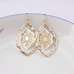 Jewelry Moroccan Gold Fashion Inspired Cutout Drop Brand For Women Teardrop Earrings Hollow Filigree Statement Earrings Designer Cmipg