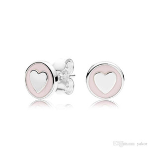 NEW Authentic 925 Sterling Silver Heart Earrings set Original box for Pandora Fashion Wedding Jewelry Stud Earring for Women