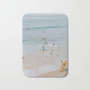 HOT Banho Tapetes Deixa Surf Bath Mat flanela absorventes não deslizamento Capacho Porta de entrada Banheira Quarto Mats RLr0 #