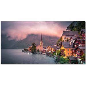 Seacoast Travel Dubai Scenery Poster Ptints Nordic Natural Landscape Oil Painting Modern Canvas Wall Art Picture Living Room Home Decoration