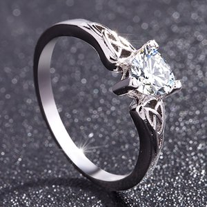 Fashion Dress Raw Crystal Rings Wedding Gift Womens Stainless Steel Rings For Girls Finger