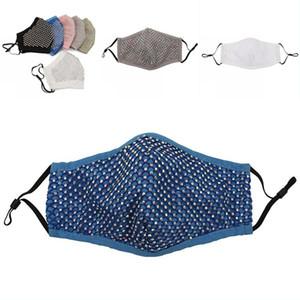 Double Deck Mund Gesichtsmasken Mode Tuch Damen Plaid Kristall Inlay Mascarilla Flash-Breathing Waschbar Frauen Mascherine12dd G2