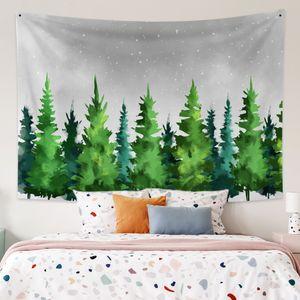 Beautiful Sky Tapestry Hauptdekorationen Wandbehang Wald Sternennacht Tapisserien für Wohnzimmer Schlafzimmer