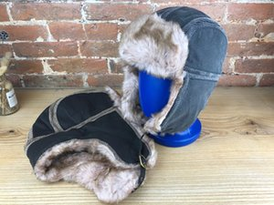 Winter Faux Fur Hat Trapper Warm Ski Furry Caps Windproof and waterproof Designers Bucket Hat Fashion Cap Winter hat New