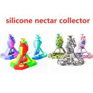 Granate-Form-Silikon-Nektar-Kollektor unzerbrechlicher Silikon-Raucher-Nektar-Sammler-Kits mit 14-mm-Titan-Tipp