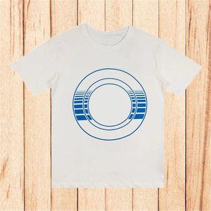 Famoso stilista Mens T Shirt 2021 Summer Circle Stripe Stampa manica corta Tshirt Street Fashion Tees for Man