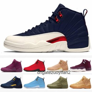 Cheap Jumpman 12 12s FIBA CNY Bumblebee Kids Basketball Shoes Reverse Taxi Game Royal Blue Gym Red Wings Grey men sports sneakers trainers