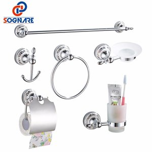 Sognare de bain Accessoires simple serviette bar Crochet papier Porte-gobelet Holdersoap Box Set Bath Hardware Sets D1900 wmtHnu jjxh