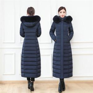 Extra Long Down Jacket Women Winter Coat White Duck Down Parkas Hooded Warm Outerwear Overcoat Plus Size S-4XL