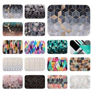 Nordic Modern Geometric Cubes Lines Printed Indoor Doormat Kitchen Bathroom Door Mat Floor Mat Table Anti-slip Rugs