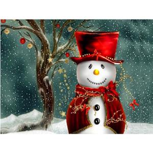 Costura Muñeco de nieve 5D Bordado Rhinestone Pintura DIY Mosaic S Diamond Cross Gifts Stitch Christmas Enmascarado Trov Diamante Costura Artesan PA PJBO