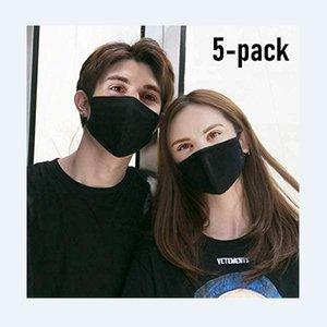 25/50 / 100шт IC Labs лица РМ2,5 Маски с Дыхательные 100% хлопок моющийся многоразовый тряпичные маски защиты от пыли Пыльца перхоть