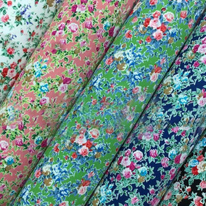 Lychee Life DIY 45cmx150cm Flower Printed Cotton Fabric High Quality Sewing Synthetic Leather Material For Handbag Garments1
