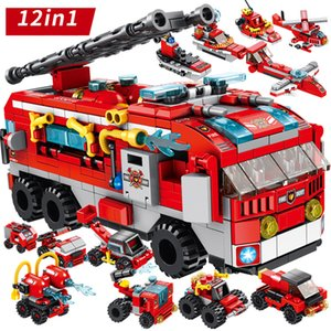 Fire Truck 561PCS Mini Figures Car Accessories Blocks Children Toys Toys Kids Bricks Building Blocks Set Educational Toy For Boy X0102
