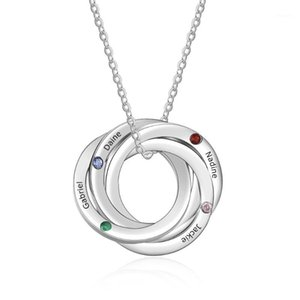 Automotive Repair Kits Personalized Russian Ring Relationship Necklace Custom Engraved Family Name With Birthstones For Mother Girls Friend1