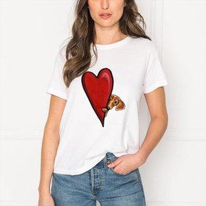 Harajuku Kawaii Dachshund Pug Terkel Funny T Shirt Women Animal Print T shirt White Top shirt Female Casual Short Sleeves
