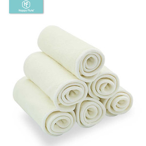 Happy Flute 5 10 pcs 4 layers bamboo Liner Insert For Baby Cloth Diaper Nappy Natural Bamboo Washable 201020
